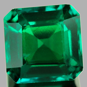 1.28 Ct. VVS Octagon Green Emerald Created Russia