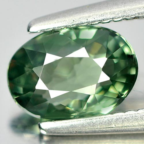 0.94 Ct. Natural Green Songea Sapphire Gemstone Oval Cut