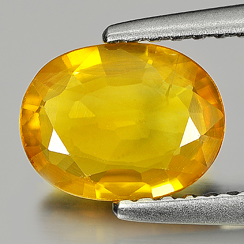 Natural Gem 1.17 Ct. 8 x 6 mm. Oval Shape Yellow Sapphire Thailand