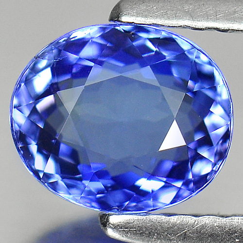 1.24 Ct. Clean Oval Shape Natural Violetish Blue Tanzanite Gem