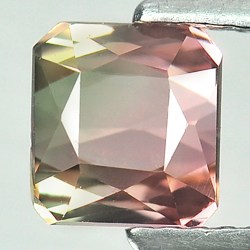 Unheated 1.67 Ct. Octagon Natural Bi Color Tourmaline Nigeria