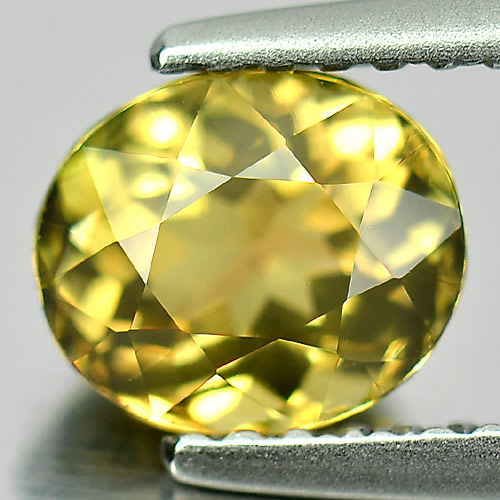 1.15 Ct. Charming Gem Oval Natural Greenish Yellow Tourmaline