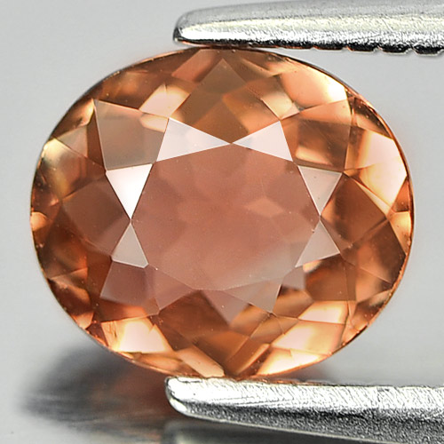 Good Color 0.92 Ct. Oval Natural Gem Pinkish Orange Tourmaline