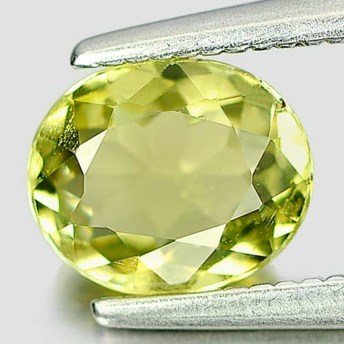 Good Natural Gem 0.90 Ct. Oval Yellowish Green Tourmaline Nigeria