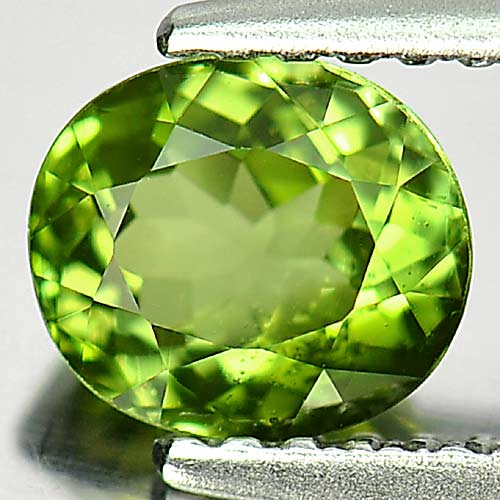 0.86 Ct. Oval Shape Natural Gem Green Tourmaline Unheated