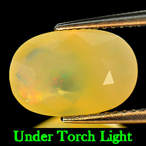 2.44 Ct. Oval Natural Multi Color Opal Sudan Unheated