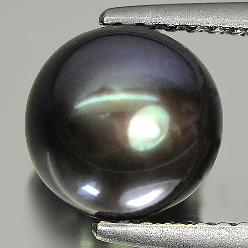 3.24ct. 7.7mm. Charming Natural Black Purple PEARL Drilled