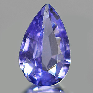 0.27 Ct. Pear Natural Violet Blue Tanzanite Tanzania