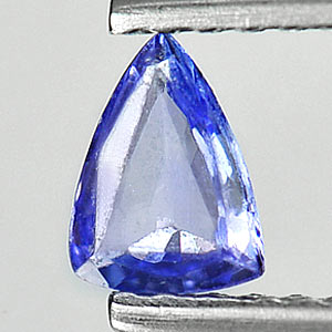 0.24 Ct. Trilliant Natural Violet Blue Tanzanite Gem