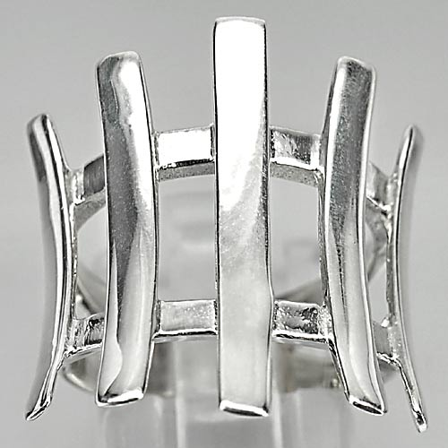 6.93 G. Beautiful Real 925 Sterling Silver Jewelry Ring Size 6.5