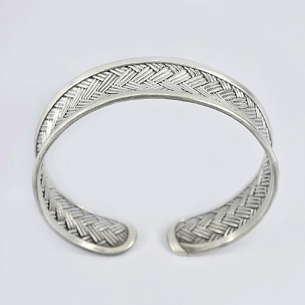 24.50 G. Adjustable Bangle 70 Sterling Silver Jewelry Diameter 60 mm.