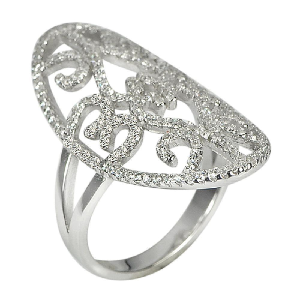 17.96 G. 3 Pcs. Wholesale White CZ Real 925 Sterling Silver Ring Size 8