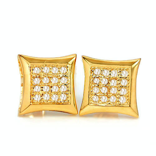 1.21 G. Natural Loose Diamond 10K Solid Gold Earring