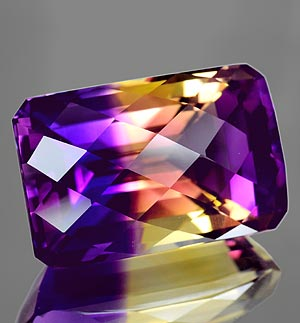 33.80 Ct. Clean Hydrothermal Bi Color Ametrine Unheated