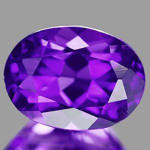 1.32 Ct. Oval Natural Violet Amethyst Unheated Brazil
