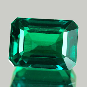 1.72 Ct. VVS Octagon Green Emerald Created Russia