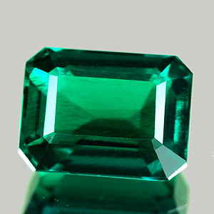 1.69 Ct. VVS Octagon Green Emerald Created Russia