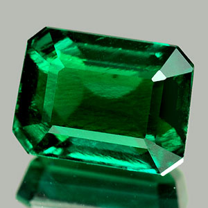 1.77 Ct. Octagon Green Emerald Created Unheated