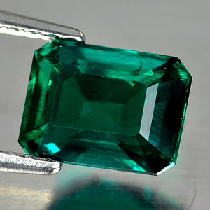 1.67 Ct. Octagon Shape Green Emerald Created Russia