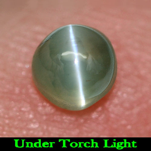 0.60 Ct. Round Cabochon Natural Gem Green Cat\'s Eye Alexandrite