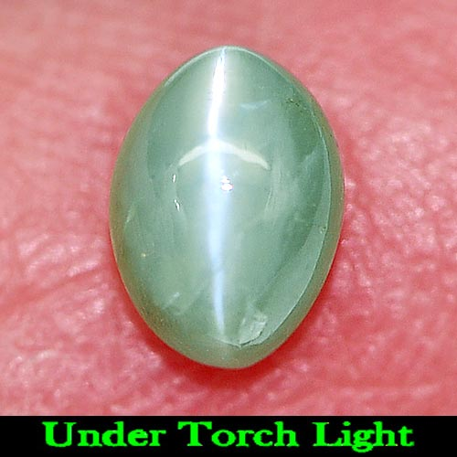 Unheated 0.85 Ct. Good Natural Gem Green Cat\\\'s Eye Alexandrite Oval Cab