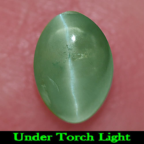0.71 Ct. Nice Oval Cab Natural Gem Green Cat\'s Eye Alexandrite Unheated