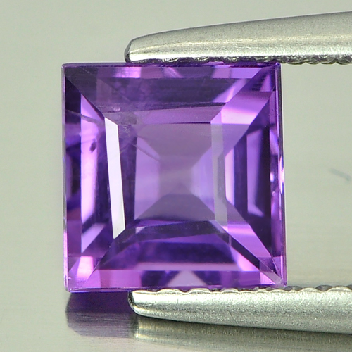 1.21 Ct. Square Natural Violet  Amethyst Unheated