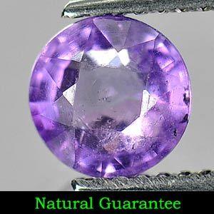 1.11 Ct. 6.6 Mm. Round Shape Natural Violet Color Amethyst Unheated