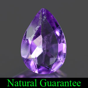 1.33 Ct. Calibrate Size Pear Natural Purple Amethyst