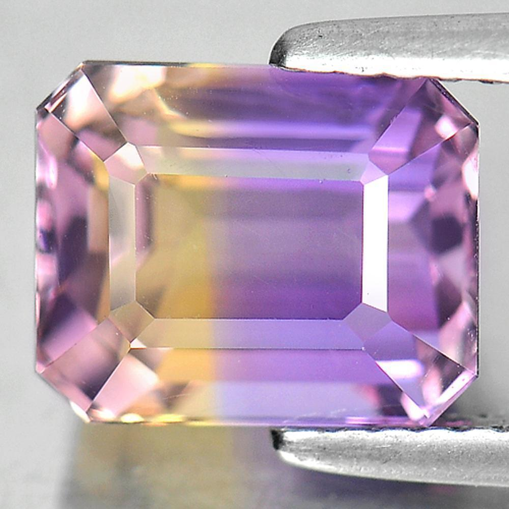 3.15 Ct. Attractive Gems Octagon Natural Bi Color Ametrine Unheated