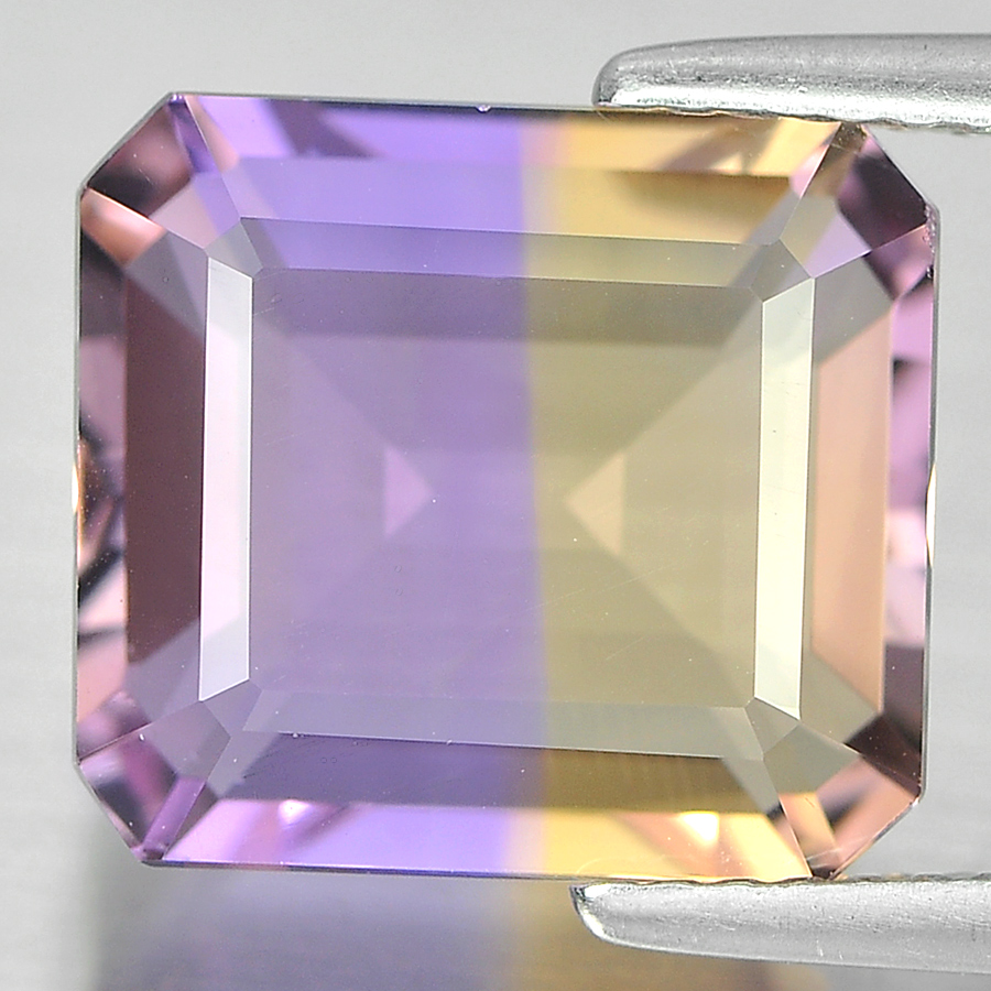Unheated 7.13 Ct. Lovely Octagon Shape Natural Bi Color Ametrine Bolivia