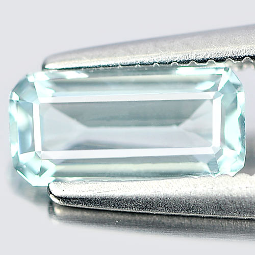 0.54 Ct. Octagon Natural Gem Light Blue Aquamarine From Brazil