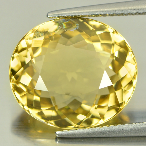 8.82 Ct. Oval Shape Natural Yellow Beryl Unheated Brazil Gemstone