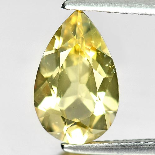 2.65 Ct. Delightful Natural Gem Light Yellow Beryl Pear Shape Unheated