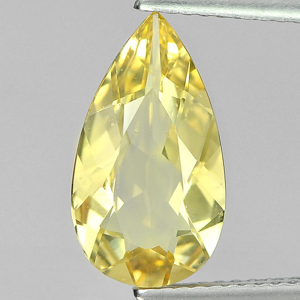 Nice 2.26 Ct. Pear Shape Natural Gemstone Yellow Beryl Unheated From Brazil