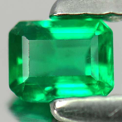 0.17 Ct. Charming Octagon Natural Gem Green Emerald Columbia