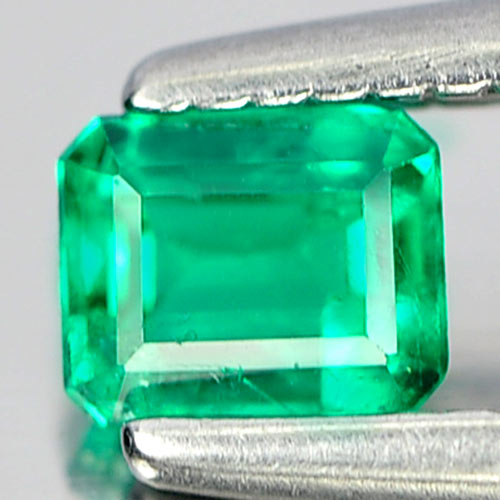 0.19 Ct. Octagon Natural Rich Green Emerald Columbia