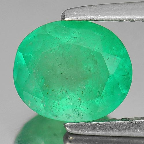 1.99 Ct. Oval Shape Natural Rich Green Emerald Columbia Gem