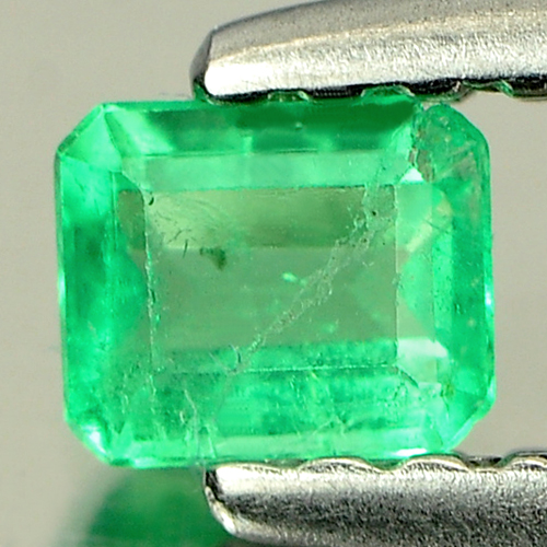 0.17 Ct. Natural Gemstone Green Emerald Octagon Shape Unheated