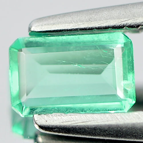 0.18 Ct. Matey Natural Green Emerald Gemstone Octagon Cut Unheated