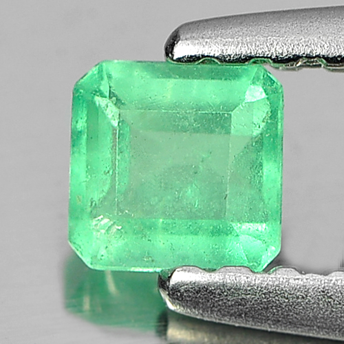 0.19 Ct. Natural Gemstone Green Emerald Octagon Shape Unheated