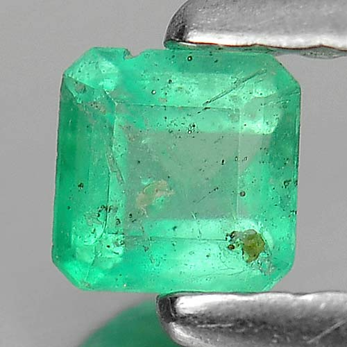 0.20 Ct. Charming Octagon Natural Gem Green Emerald Unheated
