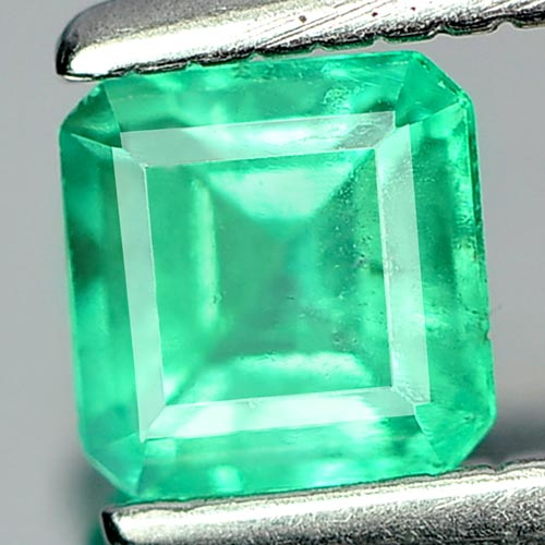 0.32 Ct. Octagon Shape Natural Gemstone Green Emerald Unheated