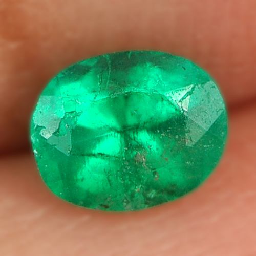 0.34 Ct. Oval Shape Natural Green Emerald Gemstone Unheated