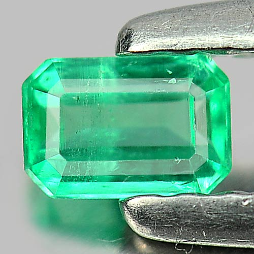 0.18 Ct. Octagon Shape Natural Gemstone Green Emerald Unheated
