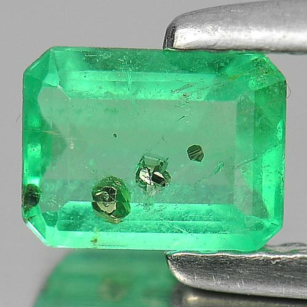 0.52 Ct. Octagon Shape Natural Gemstone Green Emerald From Columbia