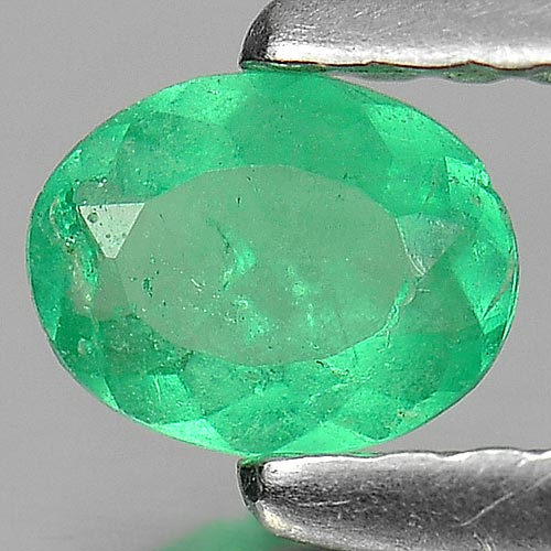 0.18 Ct. Oval Shape Natural Green Emerald Gemstone Unheated