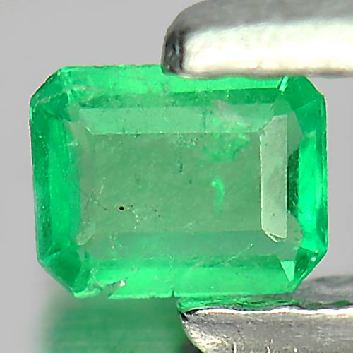 0.10 Ct. Octagon Shape Natural Gemstone Green Emerald Unheated