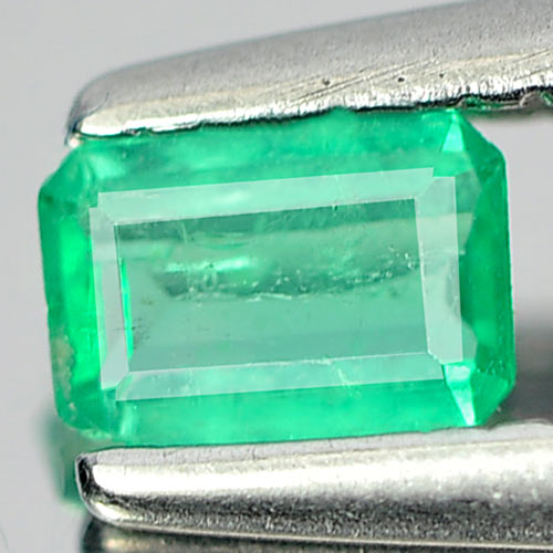 0.15 Ct. Natural Green Emerald Gemstone Octagon Cut Unheated