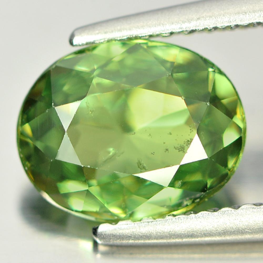 Certified Unheated Gem 1.98 Ct. Oval Shape Natural Green Demantoid Garnet